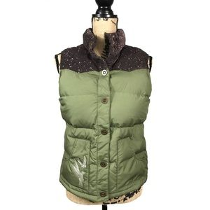 Old Navy Puffer Vest Size M Green